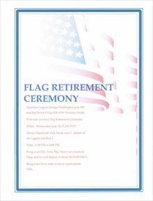 Flag Day retirement at Bay View American Legion Post 180