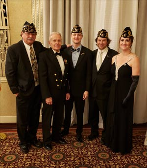 Post 180 members attended the Military Ball fundraiser for UWM's Military Veterans Resource Center on November 8th